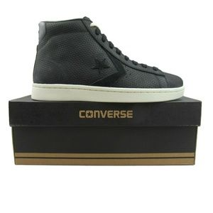 Converse Pro Leather PL 76 Mid Black Egret Size 9